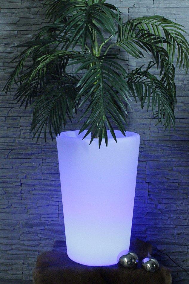 arnusa oasis lights blumentopf pl125 60 cm cm k bel topf vase beleuchtet led ebay. Black Bedroom Furniture Sets. Home Design Ideas