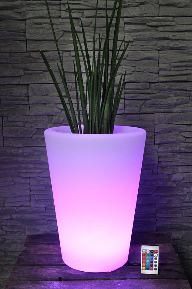 arnusa oasis lights blumentopf pl124 40 cm k bel topf vase beleuchtet led ebay. Black Bedroom Furniture Sets. Home Design Ideas