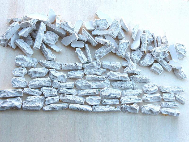 100 modellbau steine bruchsteine f r die wandverkleidung ebay. Black Bedroom Furniture Sets. Home Design Ideas