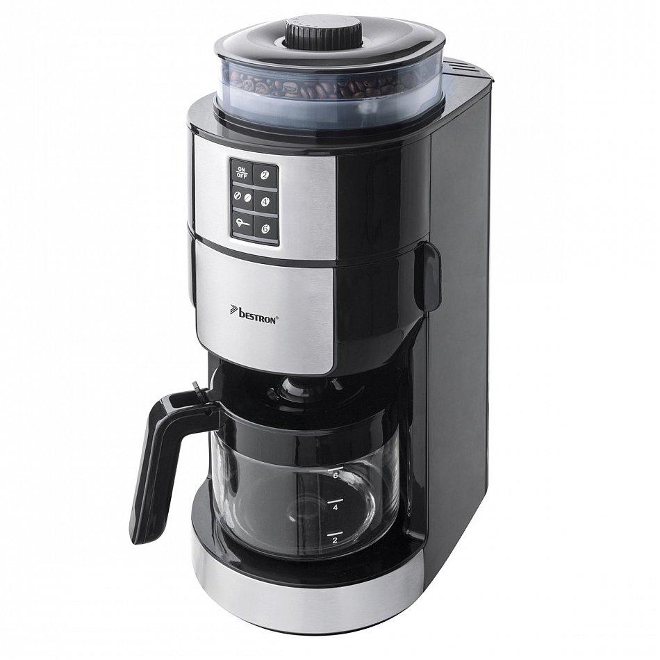 bestron acm1100g kaffeemaschine mit mahlwerk 820w 2 6 tassen 17cm breit ebay