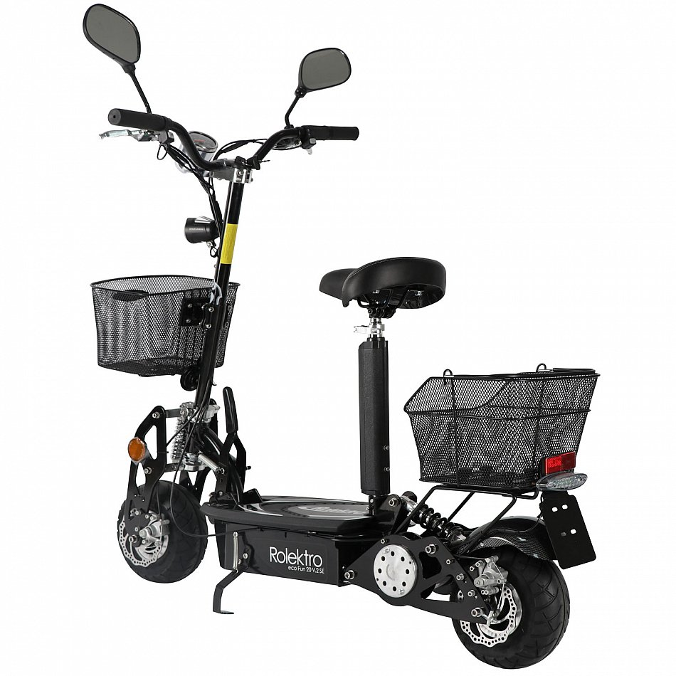 faltbarer elektroroller eco fun 20v 2 se elektro scooter e. Black Bedroom Furniture Sets. Home Design Ideas