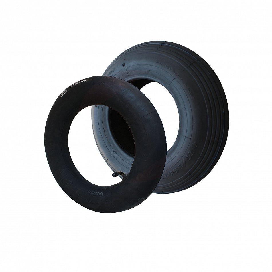 Mantel Reifen Decke mit Schlauch WV Luftrad 400x100 mm 4.80//4.00 Schubkarrenrad