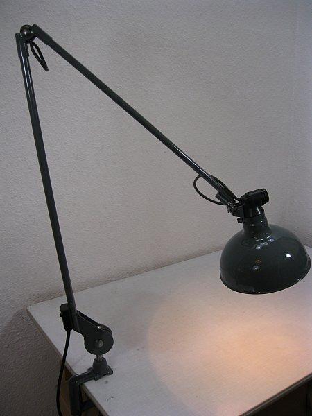 xxxl original rademacher klemmlampe tischlampe werkstattlampe bauhaus industrial ebay. Black Bedroom Furniture Sets. Home Design Ideas