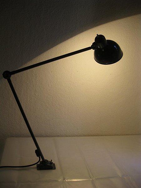 original kaiser idell gelenklampe modell 6726 christian dell bauhaus ebay. Black Bedroom Furniture Sets. Home Design Ideas
