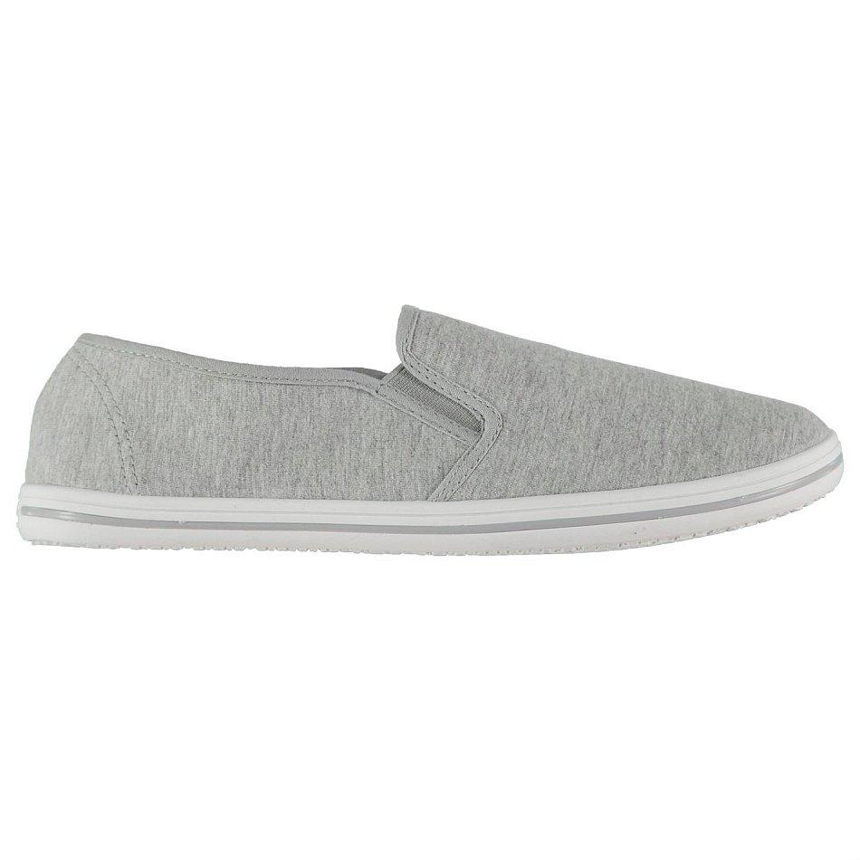 Details zu SLAZENGER Herren Slip On Canvas Slipper Schuhe grau meliert Gr. 41 42 43 44 45