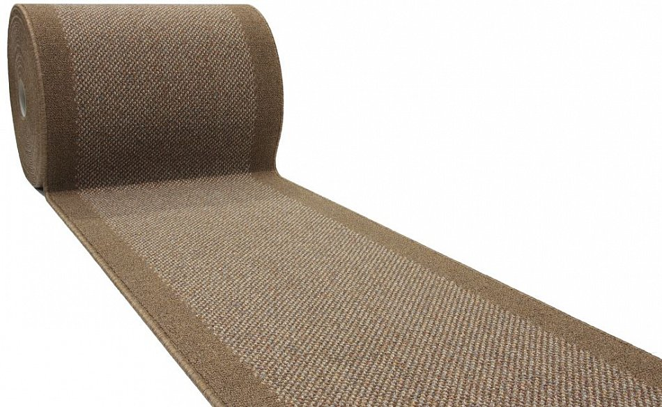 l ufer nach ma meterware braun rutschfest waschbar stufenmatten b 100 4 farben ebay. Black Bedroom Furniture Sets. Home Design Ideas