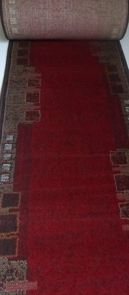 velour teppich l ufer meterware bettumrandung nach ma rot 82 stufenmatten b 70 ebay. Black Bedroom Furniture Sets. Home Design Ideas
