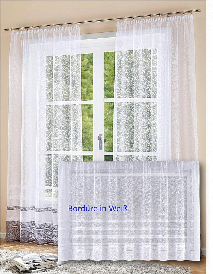 Fertiggardinen Stores Blumenfenster Weiß Langgardinen H//245 x B//600 cm 24,90 €