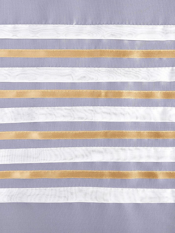 Dekogardinen Seitenschal Weiß Gold Vorhänge Transparent Gardinen Neu 2 tlg