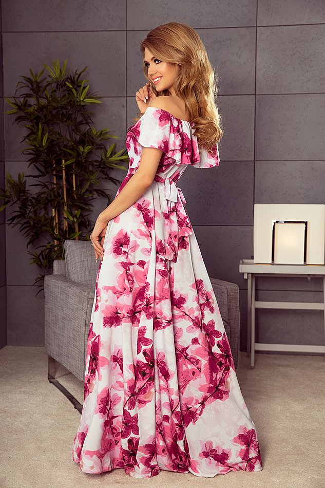 Kleid Damen Maxi Lang Blumen Partykleid Abendkleid Sommer ...