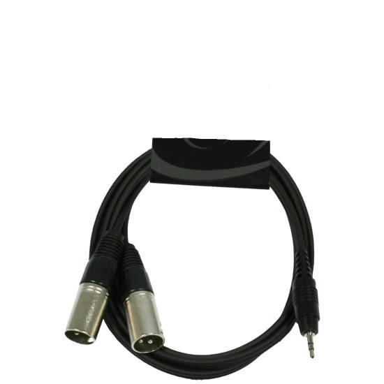 2 stück Adapterkabel 2x XLR male auf 3,5mm Klinke für Digital Audio Player