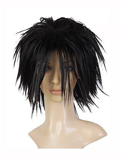 Death Note L Ryuuzaki schwarz Spiky Cosplay kurze Perücke Wig C744