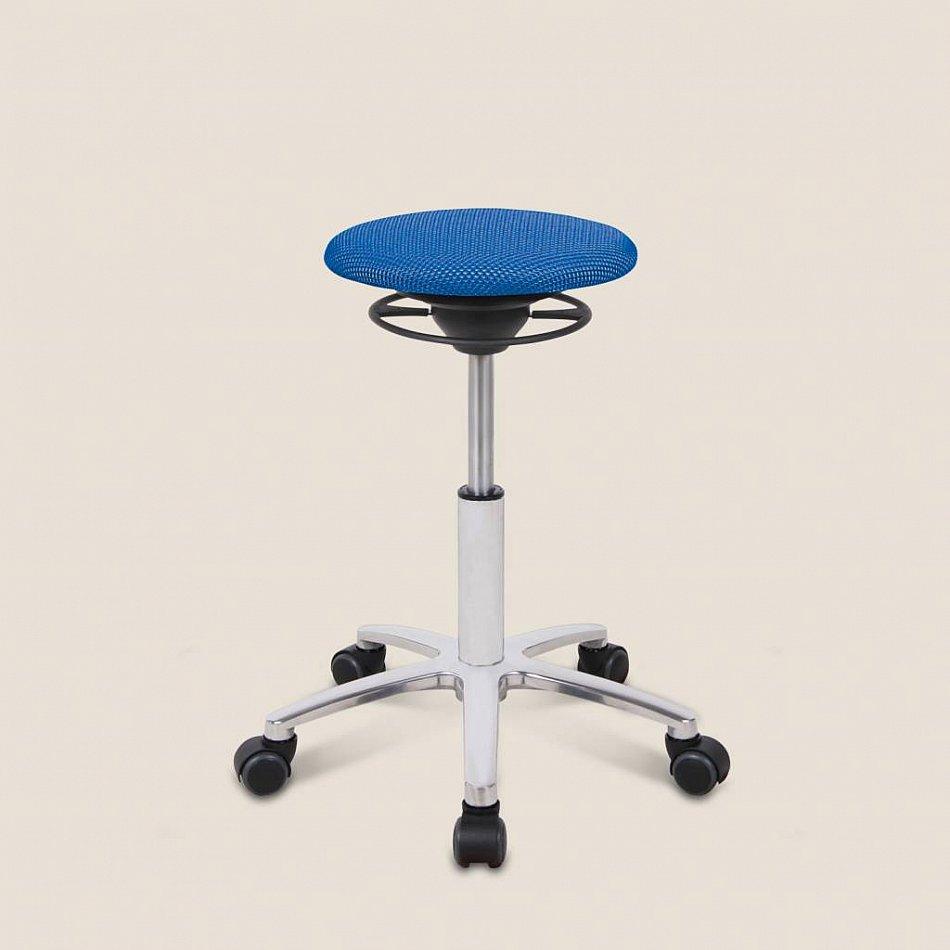 Rollen BALIMO mit blauer SitzflächeEckart MeynersBewegungsstuhl