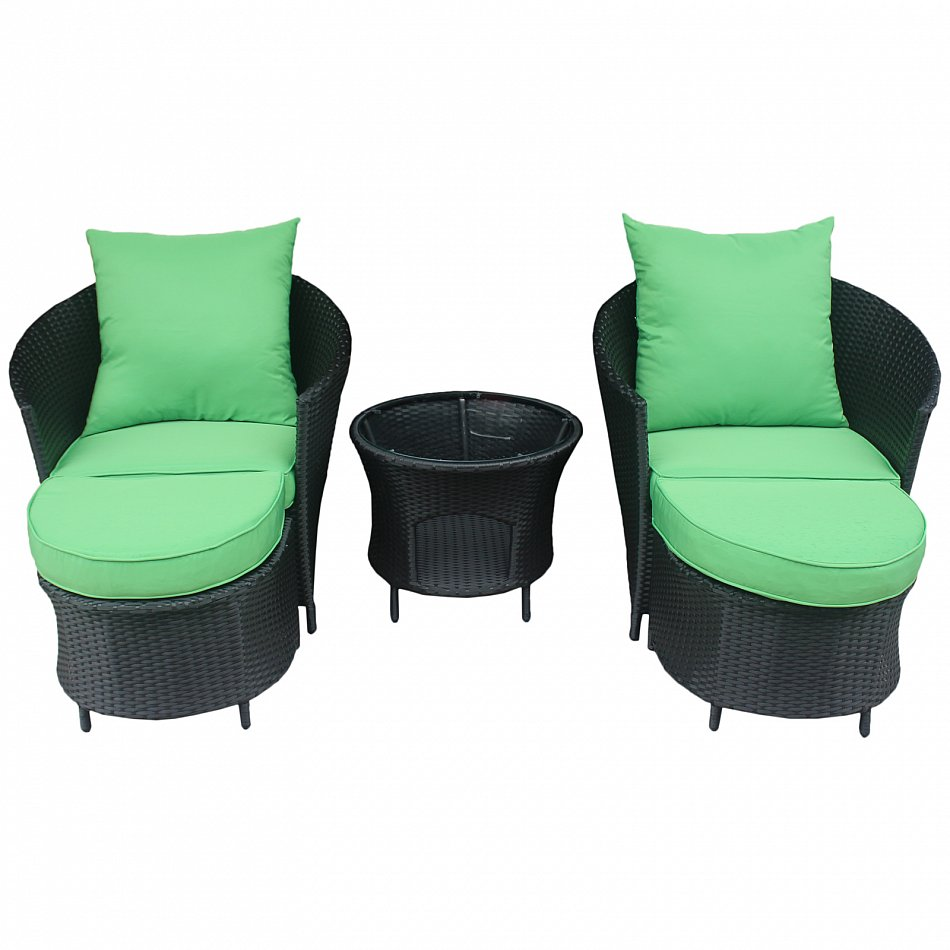 Gartenmöbel Polyrattan Lounge Sitzgruppe Garnitur 2 Sessel mit ...