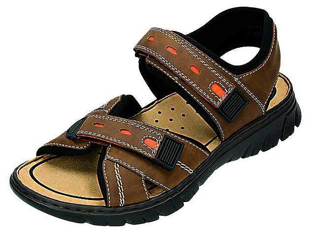 rieker sandalen trekking herren sommerschuhe braun 26771 25 new ebay. Black Bedroom Furniture Sets. Home Design Ideas
