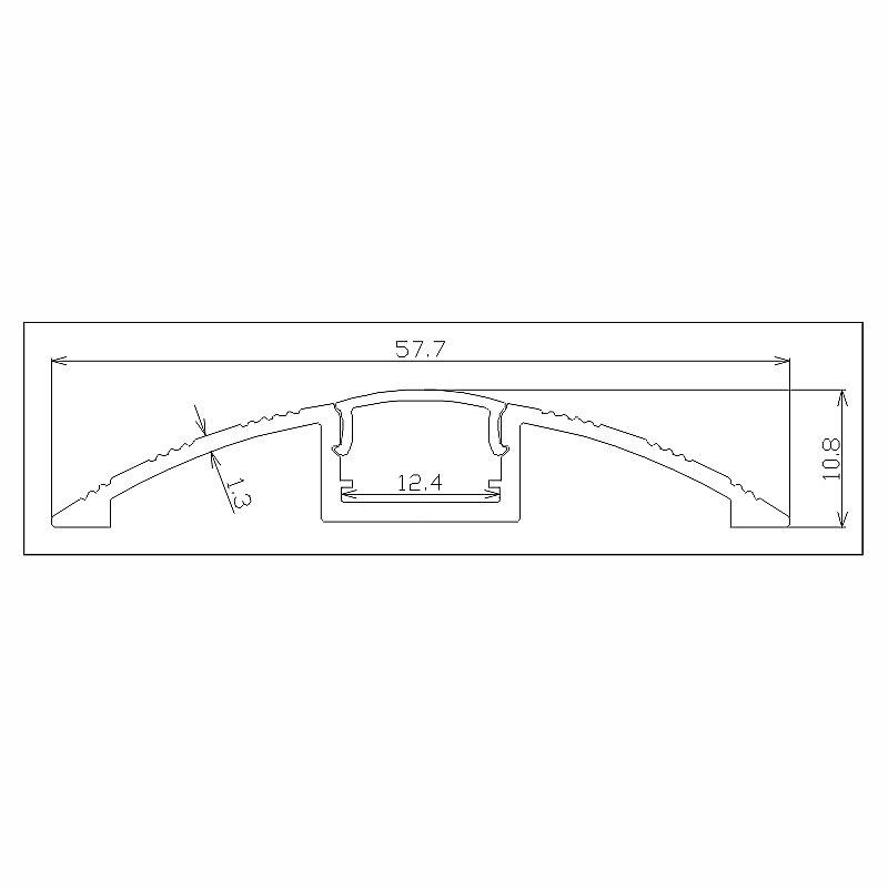 1 m Barres profilé Profilés En Aluminium Argent pour bande DEL bande stripe p14