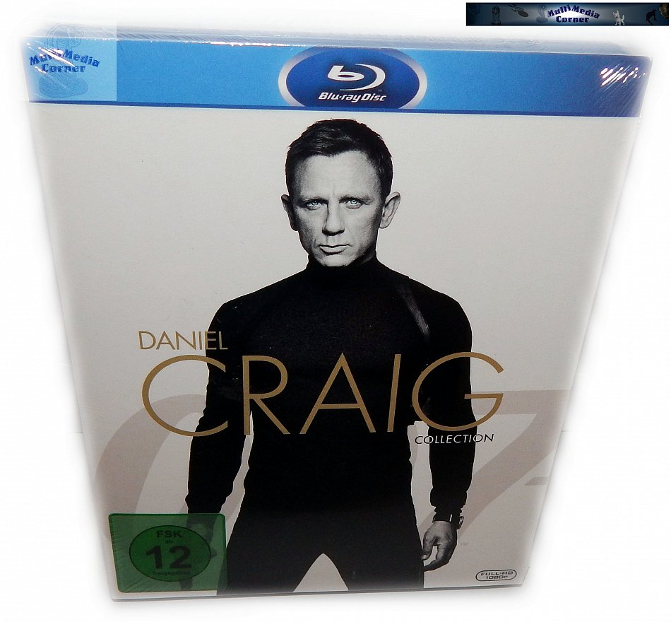 James Bond 007 - Daniel Craig Collection Casino Royale, Ein Quantum Trost, Skyfall & Spectre [Blu-Ray]