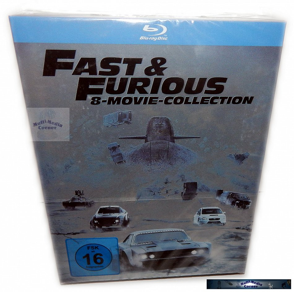 Fast and the Furious 8 Movie Collection [Blu-Ray] 8-Disc