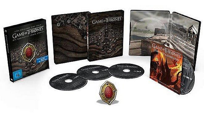 Game of Thrones Die komplette Staffel/Season 7 limited Steelbook [Blu-Ray] mit Sammelmagnet [Deutsche Verkaufsversion]