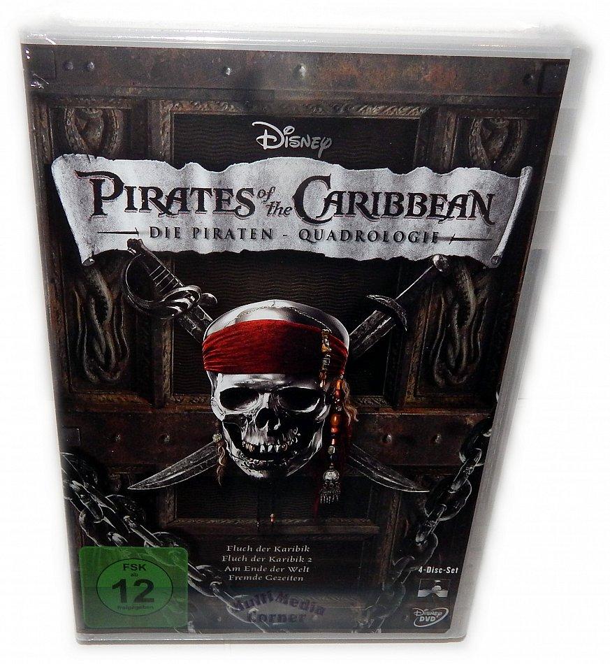 Fluch Der Karibik 1234 1 4 Piraten Quadrilogie Dvd 4 Disc