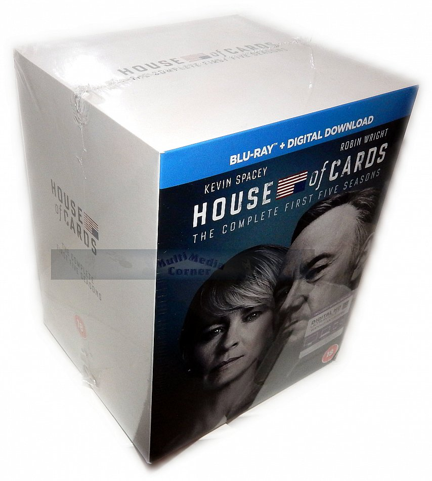 House of Cards Die komplette Staffel/Season 1-5 [Blu-Ray] 20-Disc Box-Set