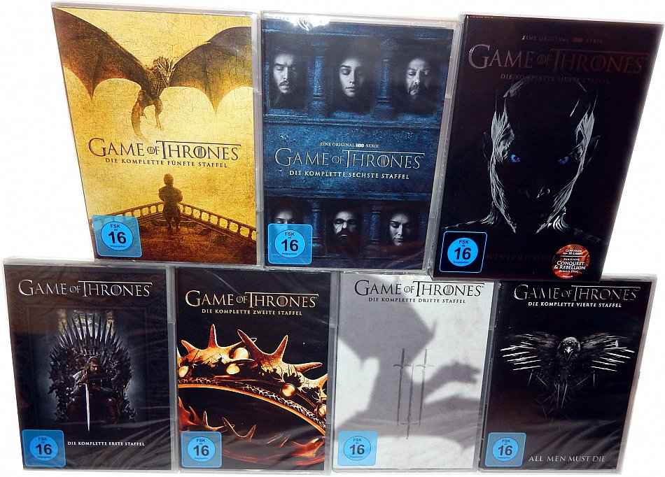 Game of Thrones Die komplette Staffel/Season 1-7 [DVD] 35-Disc Set