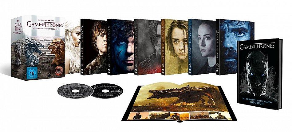 Game of Thrones Die komplette Staffel/Season 1-6 (39-Disc Digi-Pak) inkl. Fotobuch + exklusive Bonus-Discs [DVD]