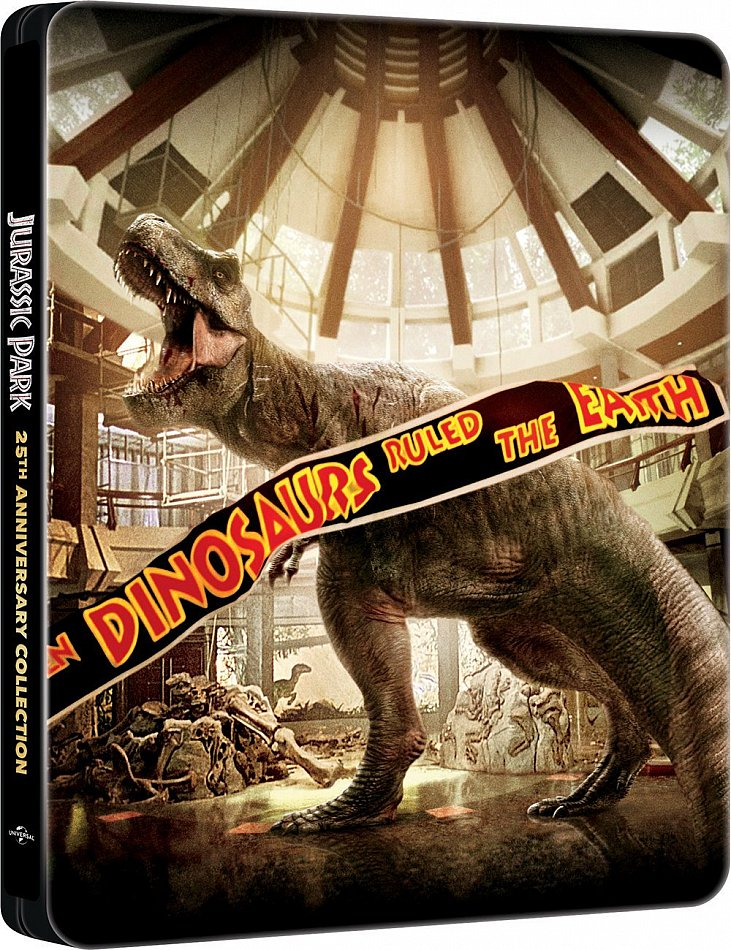 Jurassic Park-Trilogie + Jurassic World [Blu-Ray] 4-Disc limited Steelbook