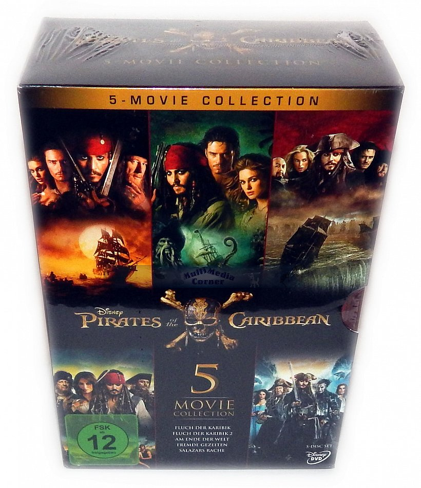 Pirates Of The Caribbean 12345 Dvd 5 Disc Movie Collection