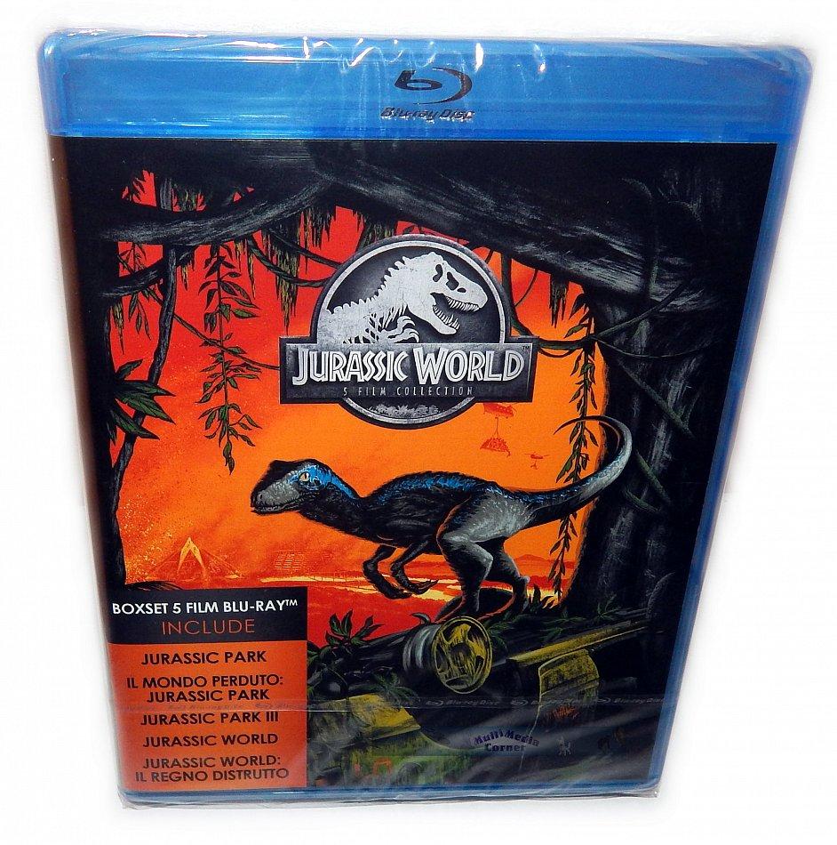 Jurassic Park-Trilogie (1-3) + Jurassic World 1+2 [Blu-Ray] 5-Disc Box-Set