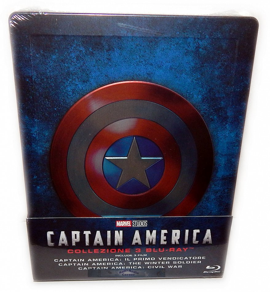 Captain America Trilogie/Trilogy 1 2 3 limited Steelbook [Blu-Ray](geprägt) Teil 1+2 Deutsche original Syncronisation Teil 3 Englischer Originalton