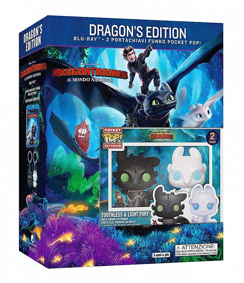 Drachenzähmen leicht gemacht 3 - Die geheime Welt limited Edition inkl. 2 Funko Pop Art Figuren [Blu-Ray]