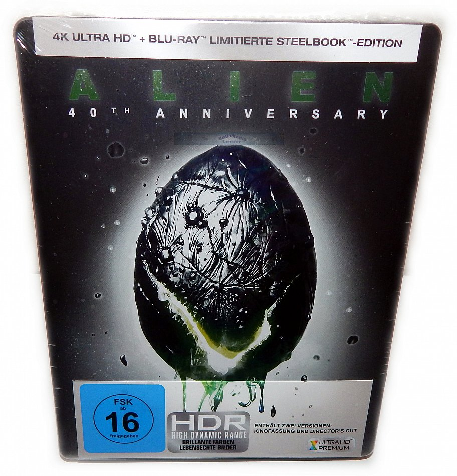 Alien [4K Ultra HD+Blu-Ray] 40th Anniversary Edition 2-Disc limited Steelbook