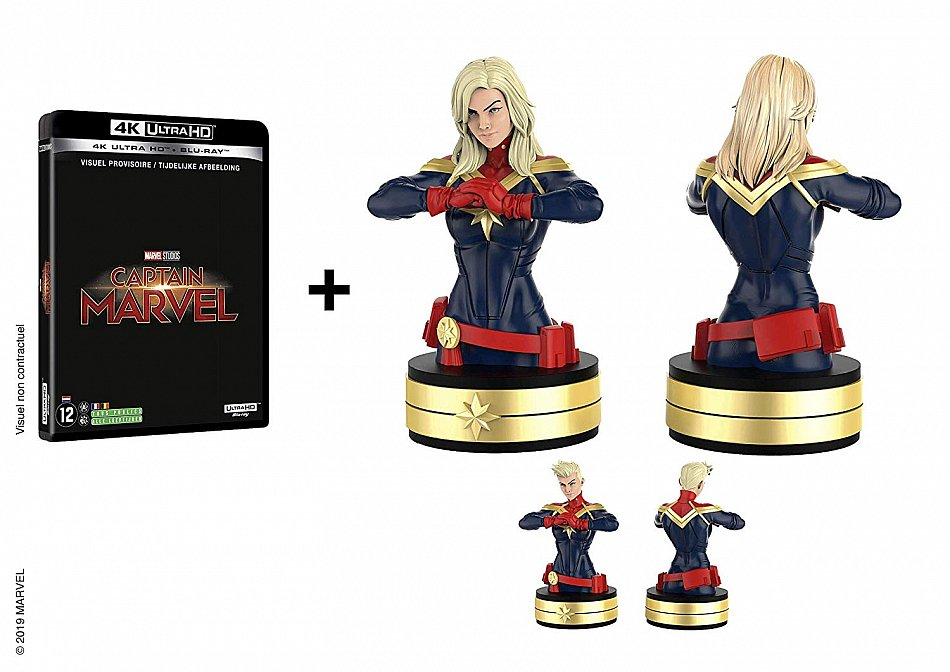 Captain Marvel limited Edition (Marvel Studios) inkl. Büste/Statue [4K Ultra HD+Blu-Ray] 2-Disc