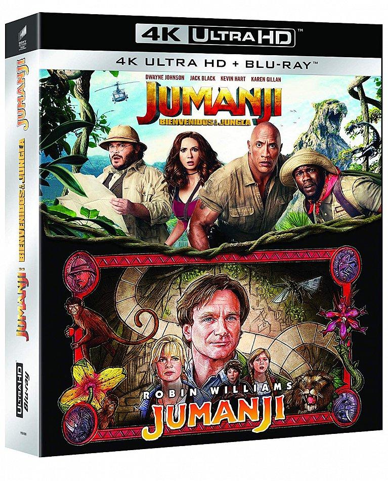 Jumanji Box-Set 1995+2018 [4K Ultra HD+Blu-Ray] 4-Disc