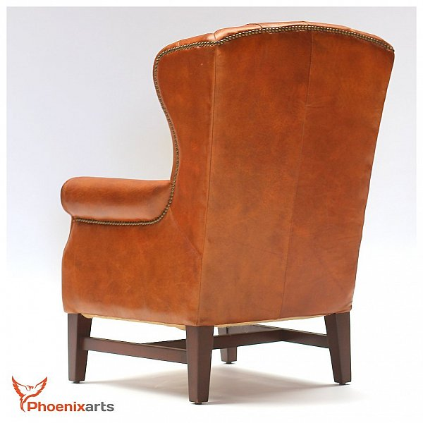 chesterfield vintage cuir v ritable berg re fauteuil en marron antique 546 ebay. Black Bedroom Furniture Sets. Home Design Ideas