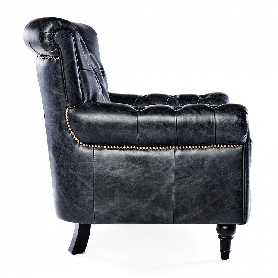 vintage chesterfield ledersessel schwarz leder antik. Black Bedroom Furniture Sets. Home Design Ideas