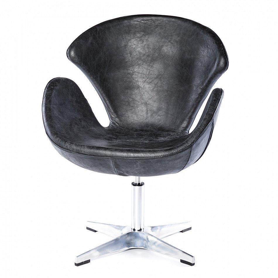 echtleder sessel vintage ledersessel schwarz design drehsessel leder stuhl 635 ebay. Black Bedroom Furniture Sets. Home Design Ideas