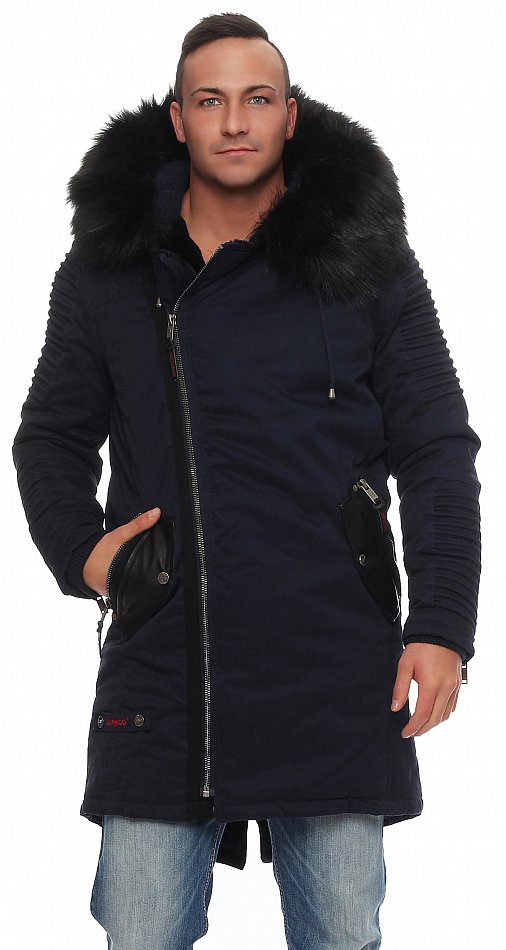 Long Coat Mens Warm Lining Original Title Osaka Fur About Details Teddy Winter Jacket Parka Marikoo Show n8wOkP0X