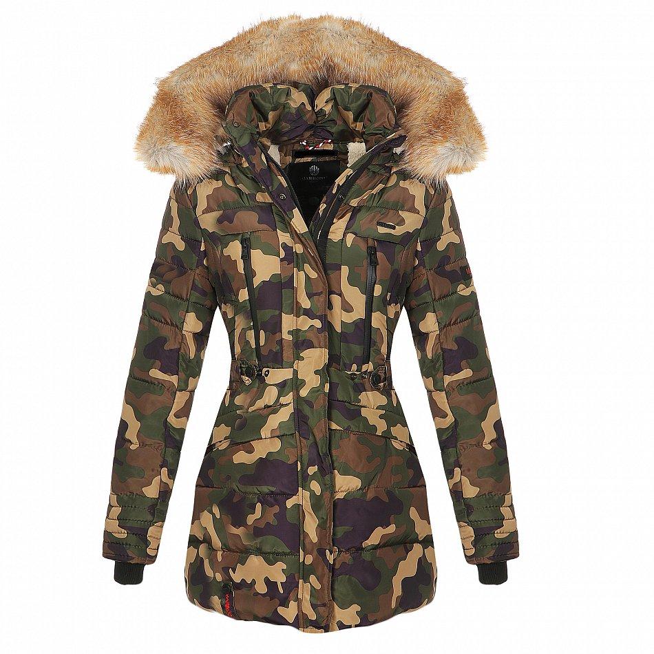 ziemlich billig Beste neueste art Details zu Marikoo Nova Damen Winter Jacke Steppjacke Lang Mantel Stepp  Parka Teddyfell