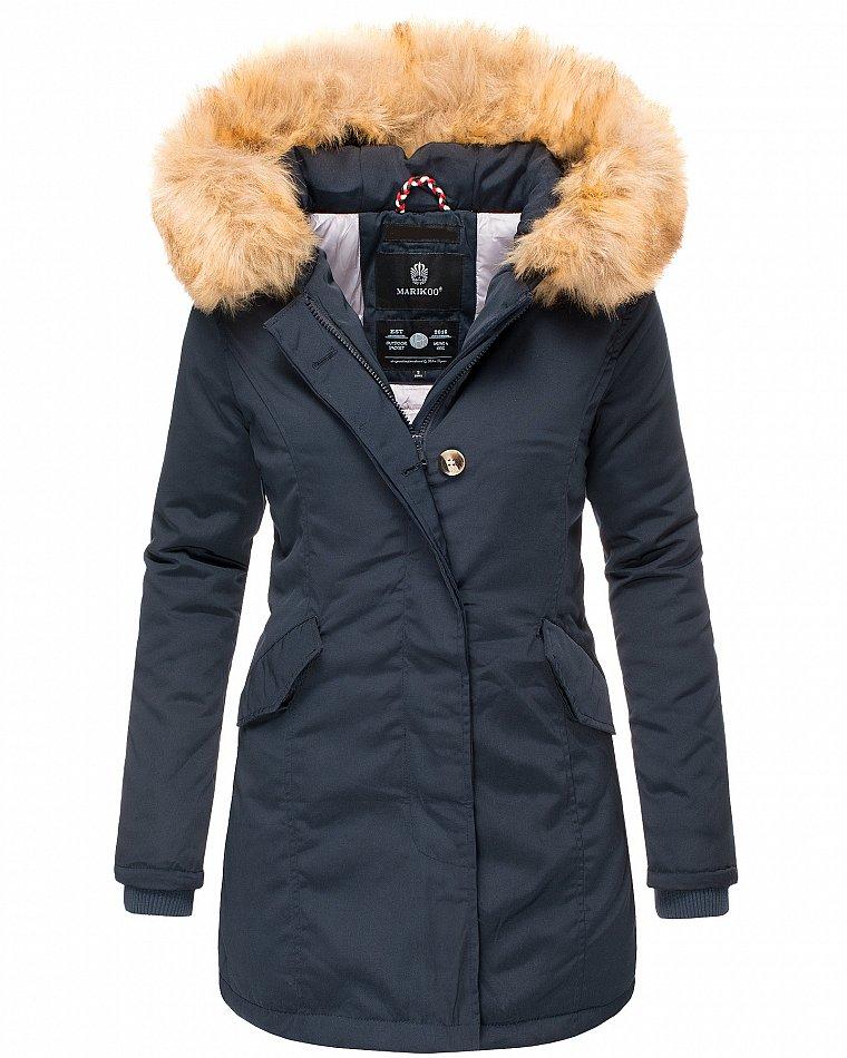 Detalles de Marikoo karmaa señora invierno chaqueta acolchada Parka abrigo invierno chaqueta forro cálido ver título original