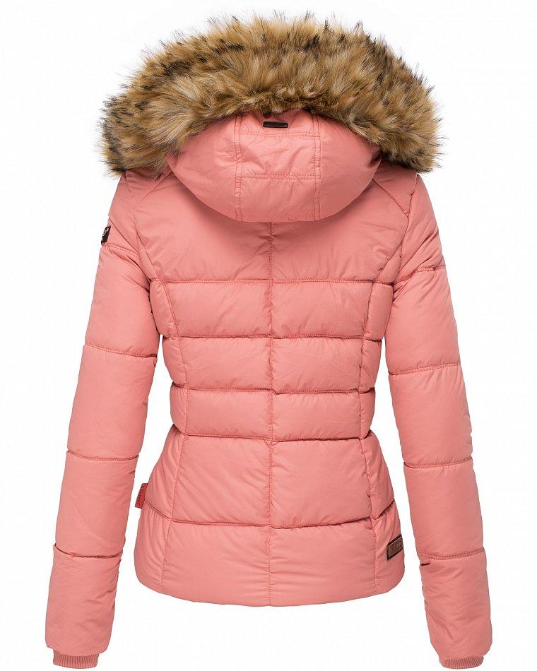Details zu Navahoo Damen Winterjacke Steppjacke Kurz Parka Jacke warm gefüttert Honigblume