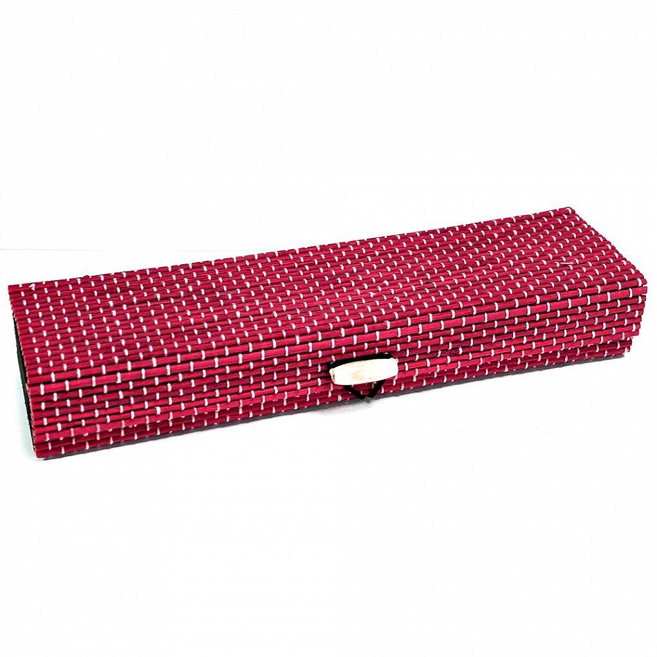 bambus box rot ca 22x6x3 5 cm reise schmucketui geschenkbox aufbewahrungsbox ebay. Black Bedroom Furniture Sets. Home Design Ideas