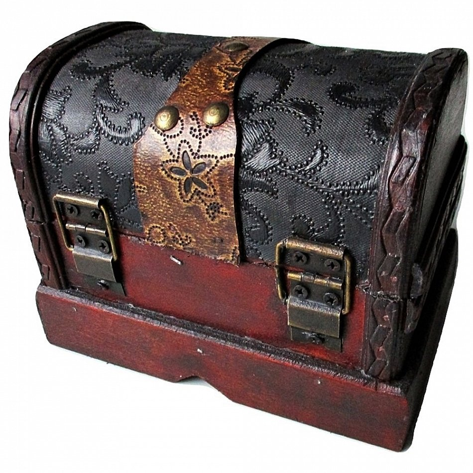 kl schatzkiste c holztruhe schmuckkasten piratenkiste aufbewahrung ebay. Black Bedroom Furniture Sets. Home Design Ideas