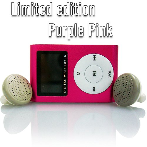 mp3 player mit lcd display pink sport camping urlaub musik. Black Bedroom Furniture Sets. Home Design Ideas