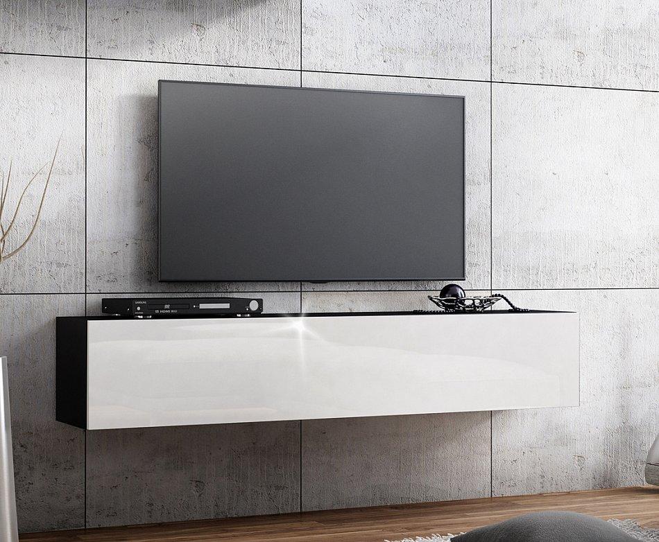 Banc tv lowboard suspendu meuble tv longueur 160cm front - Meuble tv cm longueur ...