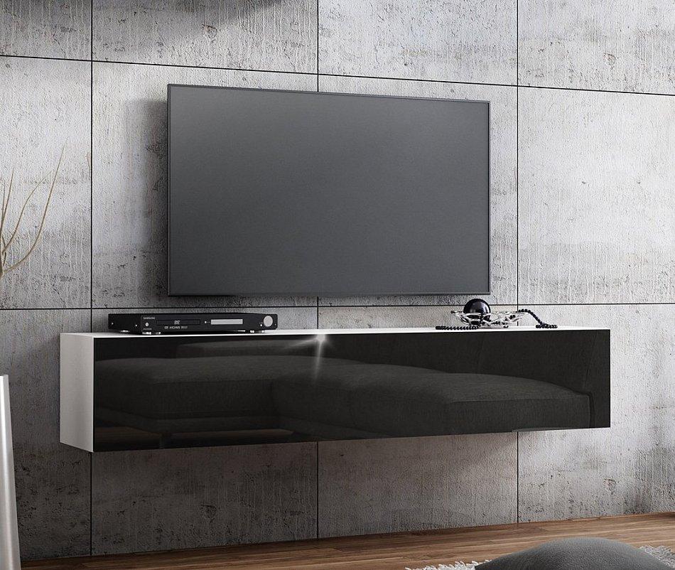 banc tv lowboard suspendu meuble tv longueur 160cm front