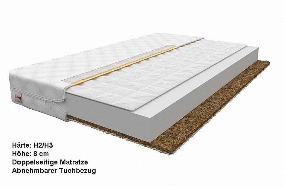 7 zonen schaum matratze memory foam hochelastischer schaum hr kokoseinlage ebay. Black Bedroom Furniture Sets. Home Design Ideas