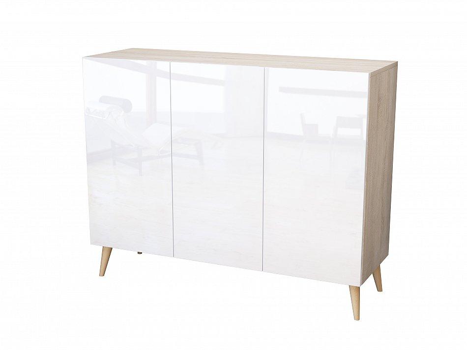 kommode h ngenden schrank anrichte sideboard acryl hochglanz 120cm mdf 18 mm ebay. Black Bedroom Furniture Sets. Home Design Ideas