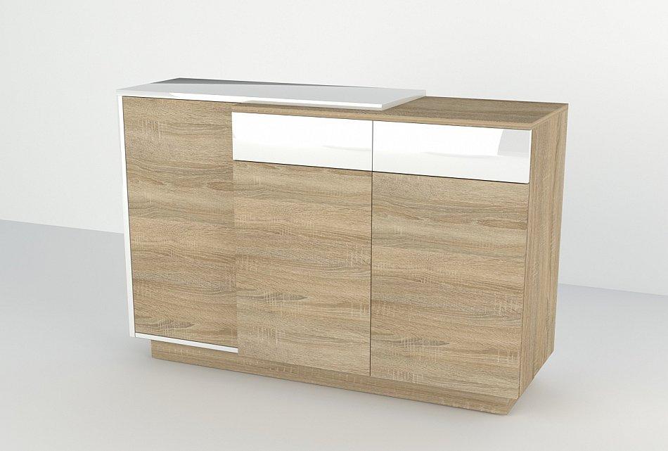 sideboard hochglanz kommode schrank h ngenden 120x90x40 cm anrichten wei ebay. Black Bedroom Furniture Sets. Home Design Ideas